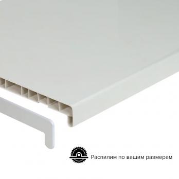 Подоконник ПВХ белый Витраж 100 мм